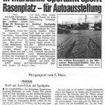 1996 Zeitungsartikel Autoausstellung auf Naturrasen