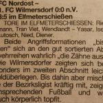 1. Pflichtspiel als FC NORDOST