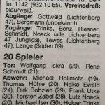 Marzahner SV 1992/93 1. Herren Kader