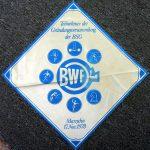 Tischdeckchen Gründungsversammlung BWF Marzahn