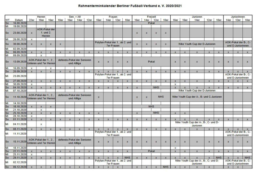 BFV-Rahmenterminplan 2020/21