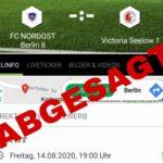 Testspielabsage Kleinfeld-Frauen - SV Victoria Seelow
