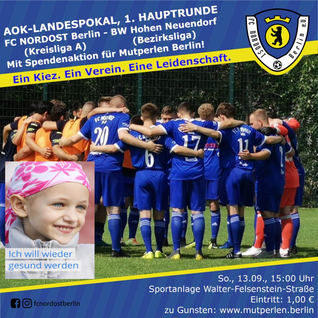 1. Herren - BW Hohen Neuendorf + Spendenaktion