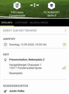 FSV Union Fürstenwalde - Kleinfeld-Frauen