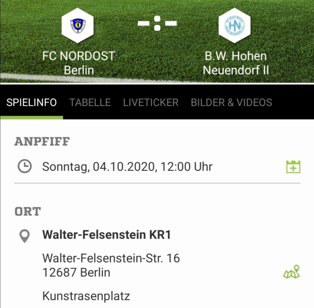 Großfeld-Frauen - BW Hohen Neuendorf II