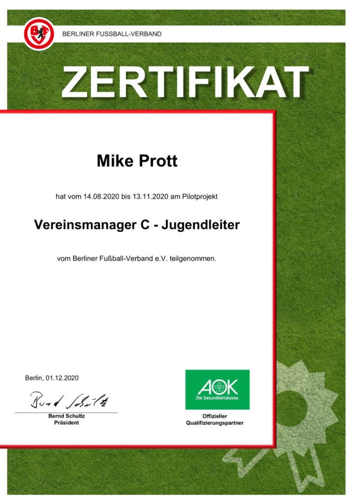 Vereinsmanager C Mike Prott