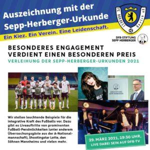 Auszeichnung mit der Sepp-Herberger-Urkunde