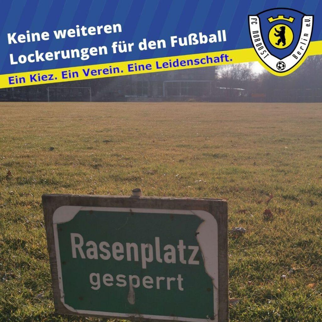 Keine weiteren Lockerungen im Fußball