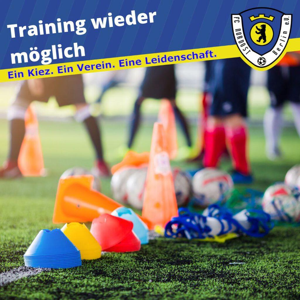 Training wieder möglich