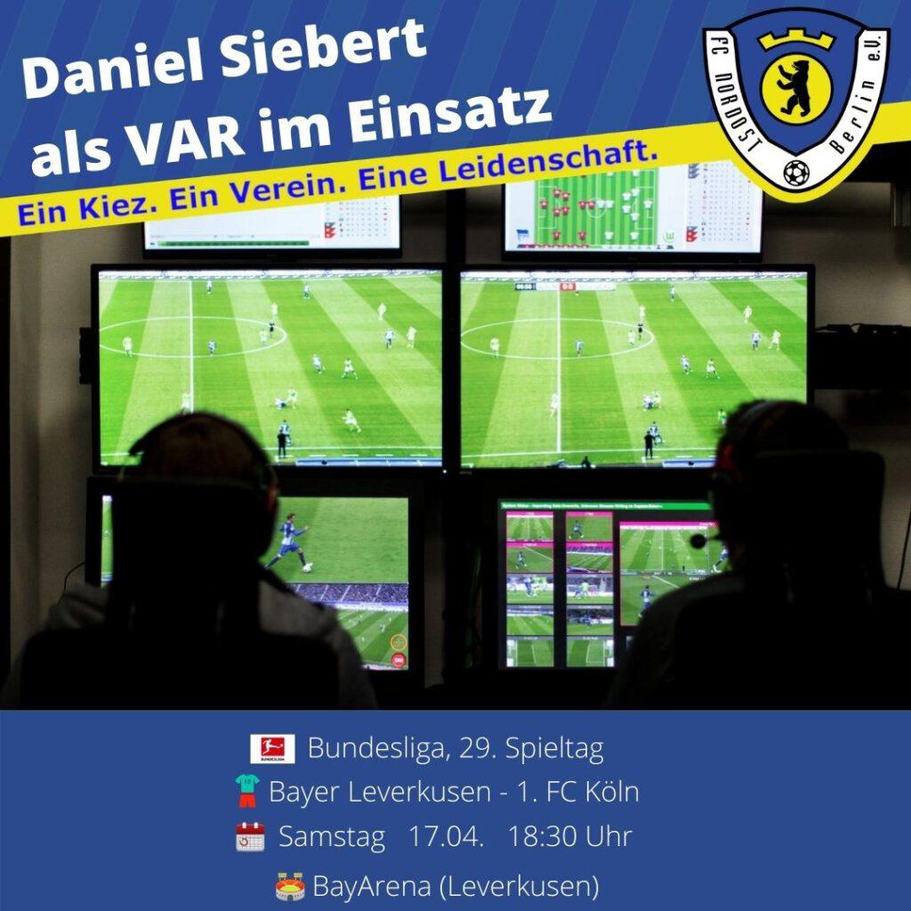 Daniel Siebert Ansetzung vom 17.04.21