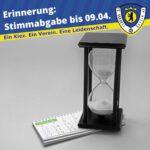 Erinnerung Stimmabgabe bis 0904