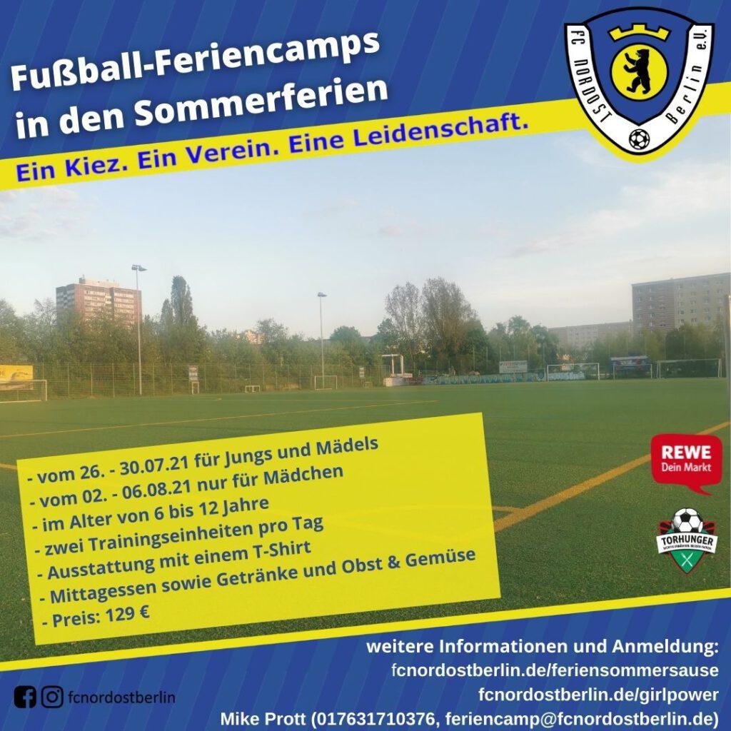 Fußball-Feriencamps in den Sommerferien