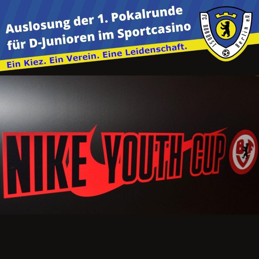 Auslosung der 1. Pokalrunde für D-Junioren im Sportcasino