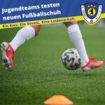 Jugendteams testen neuen Fußballschuh
