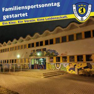 Familiensportsonntag gestartet