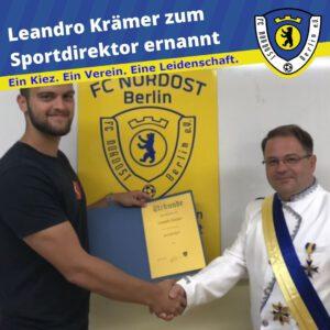 Leandro Krämer zum Sportdirektor ernannt